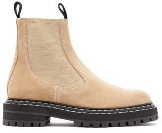 Proenza Schouler Suede Chelsea Boots - Womens - Beige