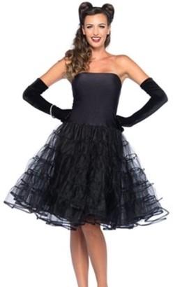 Leg Avenue Women's Rockabilly Swing Dress, Black, Medium/Large