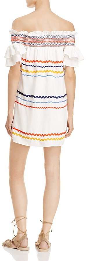 Red Carter Marilyn Ric Rac Off-The-Shoulder Dress 2