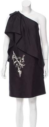 Thomas Wylde One-Shoulder Embellished Dress