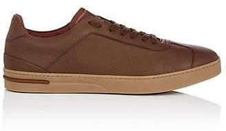 Loro Piana Men's 70's Walk Leather Sneakers - Med. brown