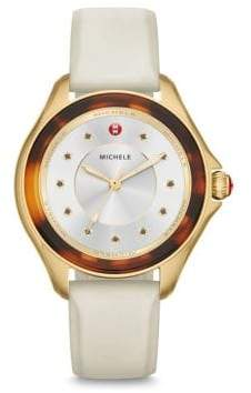 Michele Cape Quartz, Stainless Steel& Silicone Strap Watch