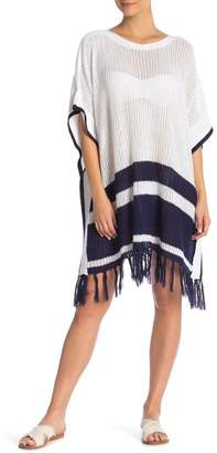 Tommy Bahama Knit Stripe Poncho Cover Up