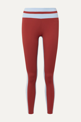Vaara Flo Tuxedo Striped Stretch Leggings - Brick