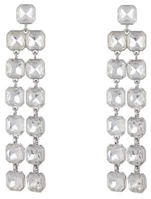 Free Press Square Crystal Linear Earrings