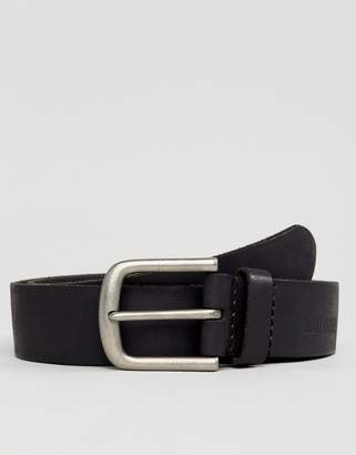 Hollister Core Leather Belt in Black