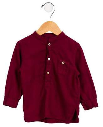 Bonton Boys' Button-Up Crew Neck Shirt