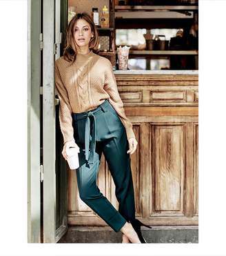 Dynamite Belted Cindy Pant with Cuffs EMERALD GREEN