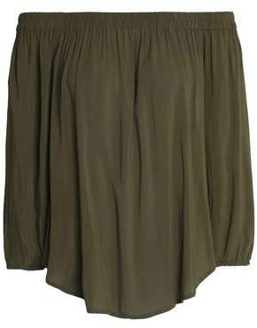 Splendid Off-The-Shoulder Draped Jersey Top