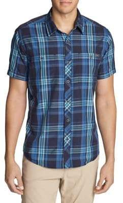 Eddie Bauer Greenpoint Short-Sleeve Button-Down Shirt