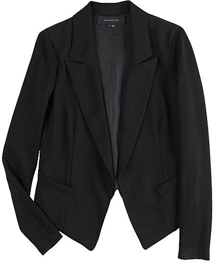 Alexander Wang Blazer with Knit Sleeves