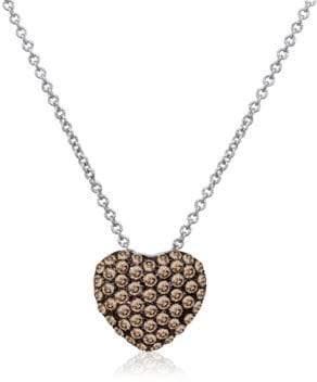 LeVian Le Vian Chocolatier Diamond & 14K White Gold Pendant Necklace