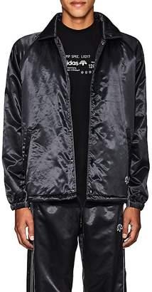 adidas by Alexander Wang Men's Logo Tech-Satin Coach's Jacket