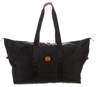 Bric's Leather-Trimmed Nylon Weekender
