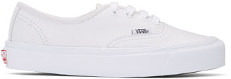 Vans White Leather OG Authentic LX Sneakers $85 thestylecure.com