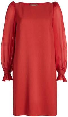 Roberto Cavalli Dress with Sheer Sleeves