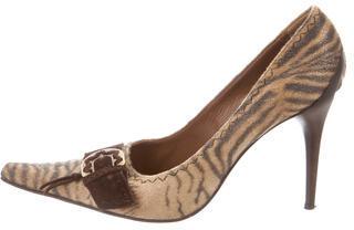 Casadei Suede Pointed-toe Pumps $65 thestylecure.com