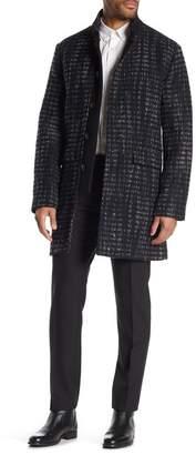 John Varvatos Printed Wool Blend Coat
