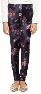 Dex Floral Velvet Leggings