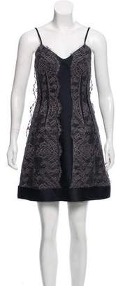 Lanvin Sleeveless Lace-Accented Dress
