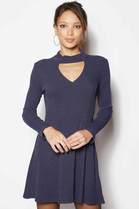 MinkPink Ribbed Keyhole Dress