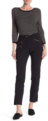 Nicole Miller NY COLLECTION Zipper Pocket Woven Pants
