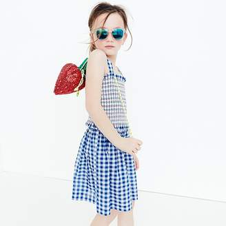 J.Crew Girls' two-piece dress in gingham