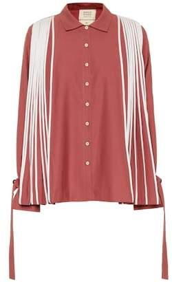 Bodice Studio Pleated merino wool shirt