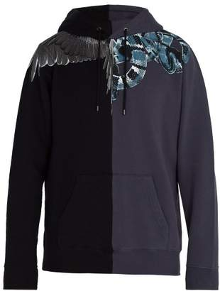 Marcelo Burlon County of Milan Wing And Snake Print Cotton Sweatshirt - Mens - Black