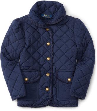 Ralph Lauren Diamond-Quilted Jacket, Toddler & Little Girls (2T-6X) $110 thestylecure.com