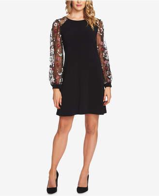CeCe Puffed-Sleeve Shift Dress