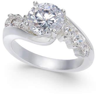 Charter Club Cushion-Cut Crystal Stone & Pavé Twist Ring, Created for Macy's