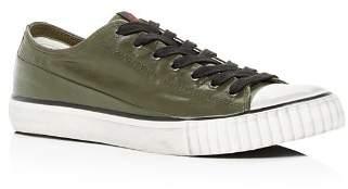 John Varvatos Bootleg Bootleg Men's Coated Linen Low-Top Sneakers