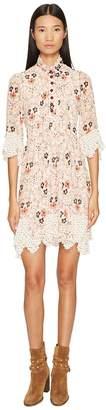 See by Chloe Georgette Dress with Neck Tie Women's Dress