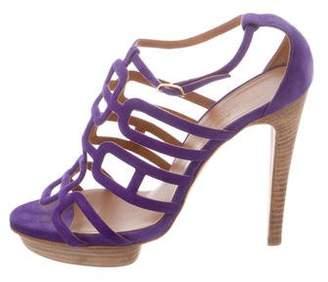 Hermes Suede Oracle Sandals