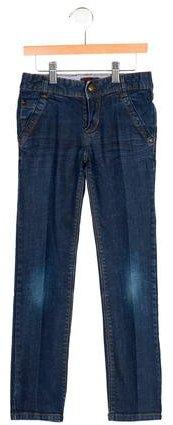 CatiminiCatimini Boys' Dark Wash Straight-Leg Jeans