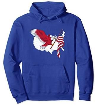 American Eagle America Patriot Independence Day Flag Hoodie