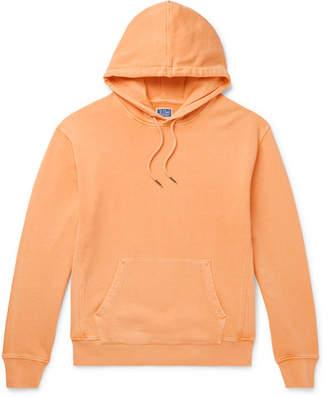 J.Crew Garment-Dyed Loopback Cotton-Jersey Hoodie - Men - Orange