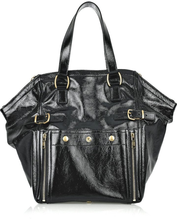 Yves Saint Laurent Downtown patent-leather tote