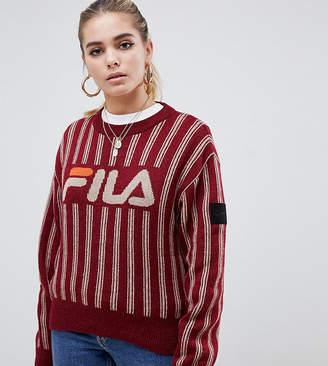 f069df42ce3cd Fila D Antidote D-Antidote x logo sweater with metellic stripe