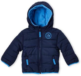 Carter's Infant Boys) Navy Hooded Bubble Jacket