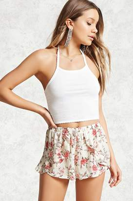Forever 21 Flounce Floral Shorts