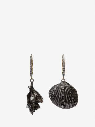 Alexander McQueen Shell Hoop Earrings