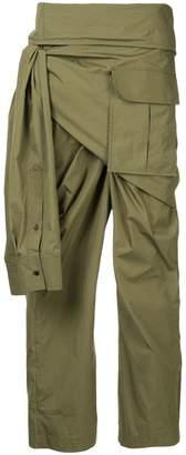 Juun.J side-tie trousers