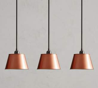 Pottery Barn PB Classic 3-Light Pendant with Tapered Metal Shade