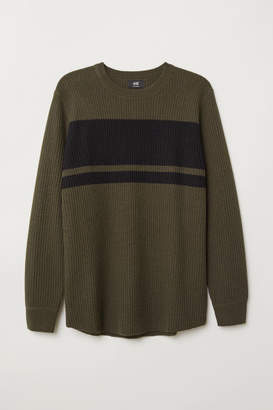 H&M Textured-knit Sweater - Green