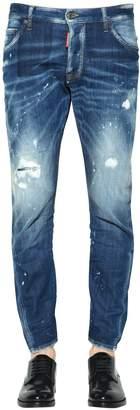 DSQUARED2 16cm Sexy Twist Destroyed Denim Jeans