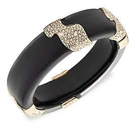 Alexis Bittar 10K Goldplated & Swarovski Crystal Encrusted Lucite Sectioned Hinge Bracelet