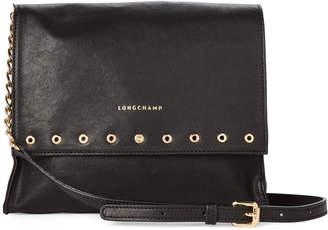 Longchamp Black Paris Rocks Large Leather Crossbody
