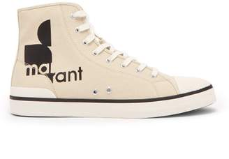 Isabel Marant Benkeenh High Top Canvas Trainers - Mens - White Multi